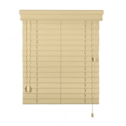 faux wood horizontal blind
